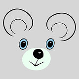 Mouse cute funny cartoon head