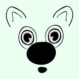 Cute animal head  funny cartoon