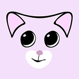 Kitty cute funny cartoon cat head