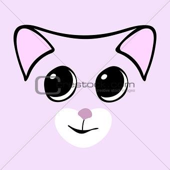 Kitty cute funny cartoon cat head