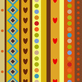 Bright Colorful seamless shapes pattern.
