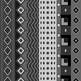 Black white seamless shapes pattern