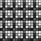 Black white mosaic seamless pattern background square