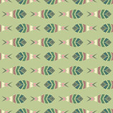 Flock of fish mosaic seamless pattern