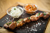 Iberian pork shish kebab
