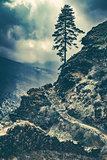 Dramatic nature landscape, trekking in Nepal