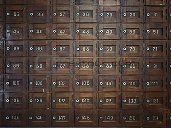 Old Wooden Post office boxes