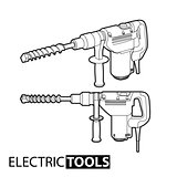 Outline electric drill