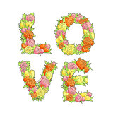 word Love from flowers