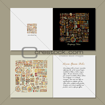 Greeting cards design, ethnic handmade ornament