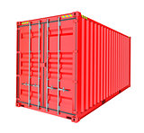 Red Cargo Container. Isoalted