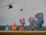 Helicopter ground attack