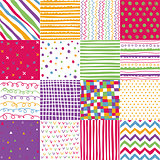 Colorful seamless patterns with fabric texture