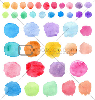Bright Watercolor blots