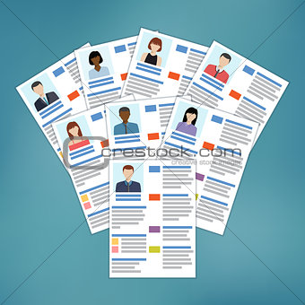 Group of resume.