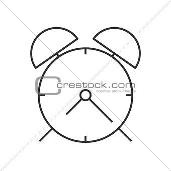 Alarm clock linear icon