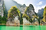 Travel island and green lake ( Guilin of Thailand )