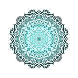 Hand-drawn lace frame, mandala.