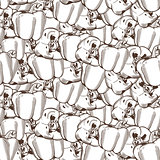 Vintage Pepper Seamless Pattern