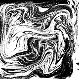 Black and white liquid texture, watercolor hand drawn marbling illustration, abstract background