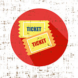 Old Vector vintage paper tickets grunge screen texture