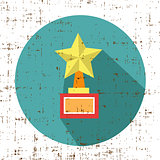 trophy star winner award retro grunge style icon