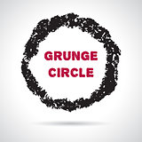 Grunge hand drawn round frame