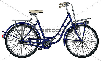 Classic blue bicycle