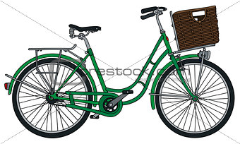 Classic green bicycle