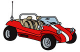 Red beach buggy