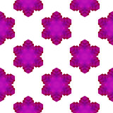 Seamless Pink Snowflake Pattern