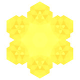 Polygonal Yellow Symbol
