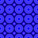 Blue David Star Seamless Background