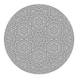 Ornamental Round Grey Pattern