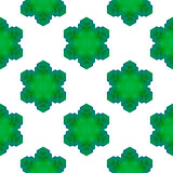 Seamless Green Snowflake Pattern