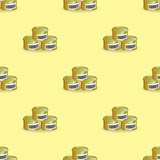Metal Cans Seamless Pattern