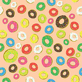Colorful Fresh Sweet Donuts Seamless Pattern