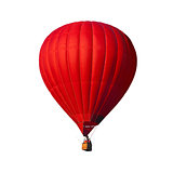 Red air balloon isolated on white