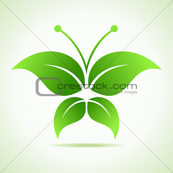 Green decorative butterfly