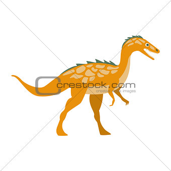 Predator Raptor Dinosaur Of Jurassic Period, Prehistoric Extinct Giant Reptile Cartoon Realistic Animal
