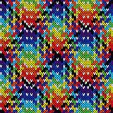 Knitting seamless multicolour pattern