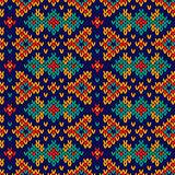 Ornate knitting seamless motley pattern