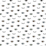 Seamless pattern in the style of psychedelic eyes. Pattern for fashion with eyes.