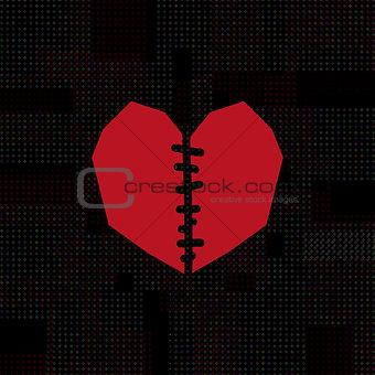 broken heart symbol.