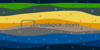 layers of the earth abstract background