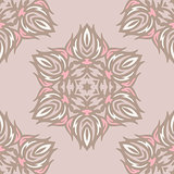 damask flower pattern vector background