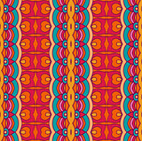 Tribal geometric striped ethnic seamless pattern