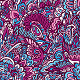 colorful floral wavy background.