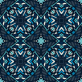 Mosaics tiled blue vector seamless pattern