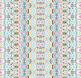 geometric striped ethnic seamless pattern